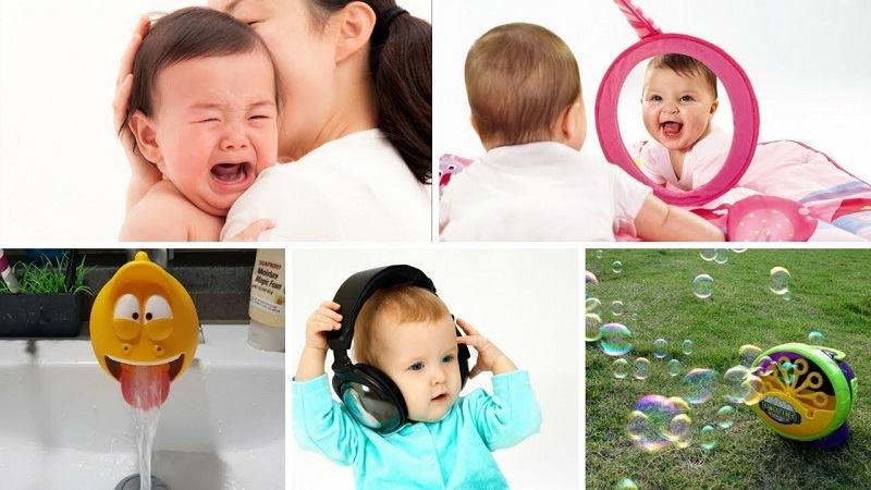 Làm sao để dỗ bé nín khóc.