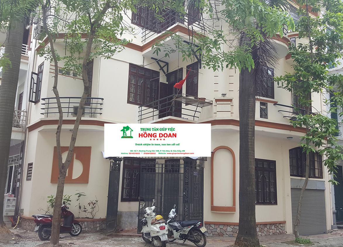 Trung tâm giúp việc Hồng Doan có địa chỉ tại Biệt thự số 1, Lô 4E, đường Trung Yên 10B, Yên Hòa, Cầu Giấy, Hà Nội