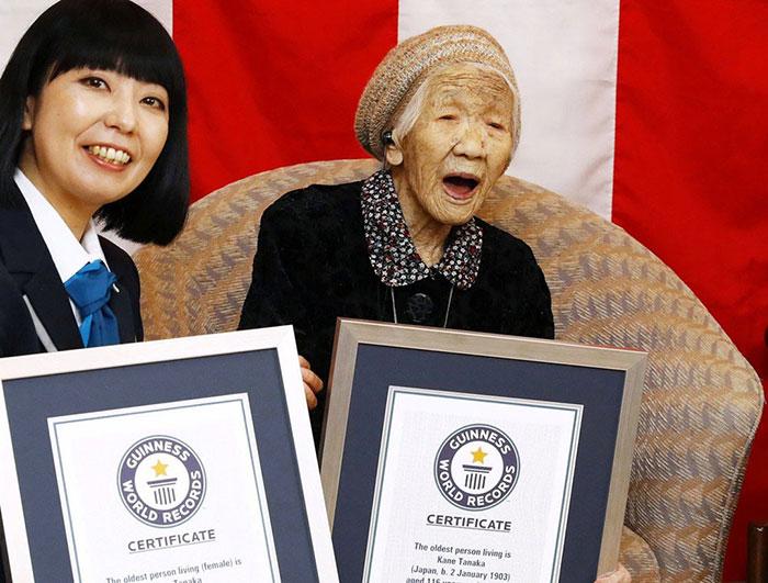 Cụ bà nhiều tuổi nhất người Nhật Bản