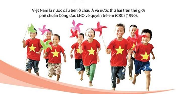 Việt Nam là nước đầu tiên ở châu Á và nước thứ hai trên thế giới phê chuẩn Công ước LHQ về quyền trẻ em