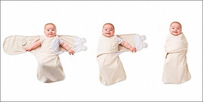Quấn tã là một trong những cách dỗ em bé ngủ