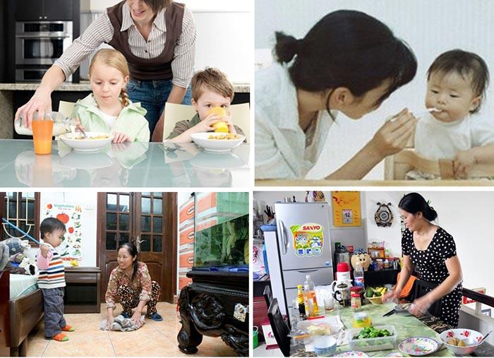 Một số công việc chăm sóc bé phổ biến hiện nay