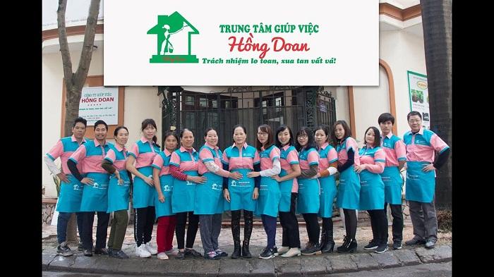Đội ngũ nhân viên của trung tâm giúp việc Hồng Đoan